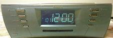 Timex Multi-Directional Sound RAINBOW LED Alarm Clock Radio T439S MP3 Jack NICE!