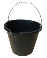 HEAVY DUTY 3 GALLON / 15L RUBBER BUILDERS BUCKET / STABLE / MUCKING OUT / HORSE