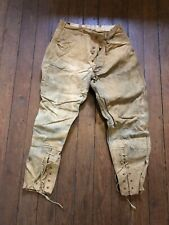 Vtg 1930's Red Head Bone Dry Mens Tapered Laced Sporting/Hunting Chaps Trousers