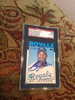 Bo Jackson  2004 Topps Originals AUTO  INCREDIBLE  1986 ROOKIE CARD 1/1  SGC 10