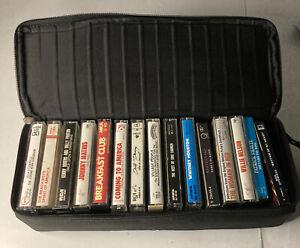 Case Logic Black Portable 15 Cassette Tape Padded Carrying Case W/ Strap - Full