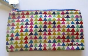 Brighton On Point Medium  Pouch- stripes triangles- colorful- blue red purple