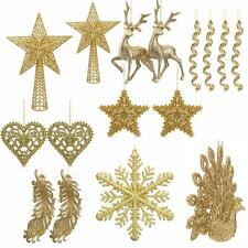 Christmas Tree Decoration - Glitter - Gold - Choose item