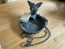 Past Times Fairy Bird Feeder. Polyresin/Steel, Chain For Hanging, Unused