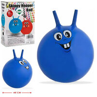 """18"""" Inflatable Smiley Face Design Skippy Space Hopper Bouncing Jumping Kids Ball"""