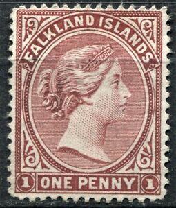 Falkland Islands 1882, SG 5, 1d Dull Claret, unused, no gum, CV £325