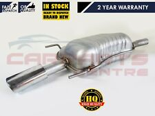 FOR VAUXHALL ASTRA H MK5 1.6 1.8 REAR EXHAUST BOX SILENCER INC CHROME TRIM 06-11