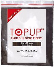 Hair Building Fiber Topup Refill Dark Brown 27.5gm 100% Natural