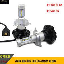 H4 9003 HB2 LED kit 8000LM 6500k Hi/Lo Beam LED Headlight Bulb Replaces Halogen