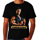 Commando Arnold Classic 80's Action Fight Guns Movie Poster New Mens T-Shirt