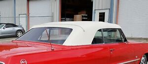 1961-1964 Impala, Bonneville, 88 Convertible Top Plastic Window & Pads GM White