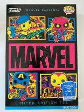 Funko Marvel Presents POP! Boxed Tees Limited Edition Tee Blacklight Marvel