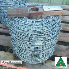 BARBED WIRE - 1.8MM X 500M HIGH TENSILE HEAVY GALVANISED. FENCING FENCE BARB