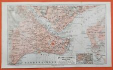 Konstantinopel Istanbul Bosporus Galata  historischer Stadtplan Landkarte 1905