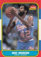 1986-87 Fleer Basketball Mike Woodson # 129 Sacratento Kings