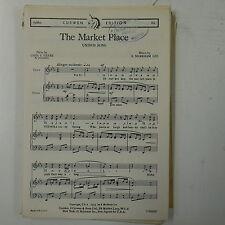 choral / vocal score THE MARKET PLACE markham lee UNISON