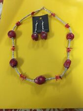 Native American Navajo Necklace Apple Coral Wow Williamian Bone Jewelry Stunning