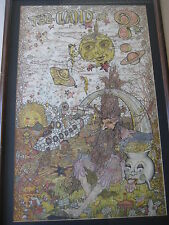 The Land Of ? Hand Colored Western Graphics Print By Bill Henry With Frame