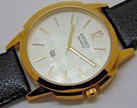seiko quartz mens nice silver dial japan made watch working order
