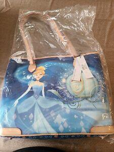 NWT Rare Dooney & Bourke Blue Disney Cinderella Shopper