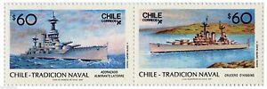 Chile 1987 #1243-44 Tradicion Naval - Navy Ships MNH