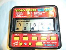 """RADICA VIDEO POKER ROYAL FLUSH 2000"" MDL 410 VNTG ELECTRONIC HANDHELD GAME"
