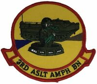 USMC 3RD THIRD ASSAULT AMPHIBIAN AAV BATTALION PATCH MARINE CORPS GATOR