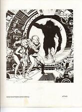 "1978 Full Color Plate ""Monster Entering Space Vehicle"" Frank Frazetta Fantastic"