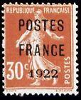"FRANCE PREOBLITERE TIMBRE STAMP 38 "" SEMEUSE 30c POSTE FRANCE 1922 "" NEUF (x) TB"