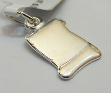 Sterling Silver 925 Charm Pendant - Small Engravable Scroll - NEW