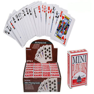 Pack of Mini Playing Cards Miniature Poker Snap Party Bag Stocking Filler Gift