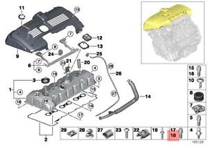 Genuine BMW E60N E61N Cylinder Head Cover Inside Torx Screw OEM 11127558454