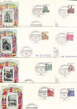 Bund 8 FDC 1964/65 < komplette Serie kleine Bauten > mit Anschrift