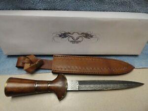Damascus blade knife # DM-1057, 15.5 inch overall length