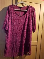 Yours clothing burgundy lace top/tunic