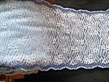 Dessous Raschelspitze Borte elastisch HELLBLAU 1m X 17cm Lace Dentelle Encaje