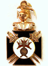 """Vintage 10K Solid Gold Knights of Columbus Pendant 40mmX22mm Signed """" T.B."""""""