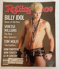 Rolling Stone Magazine Jan 31,1985 Billy Idol U2 Vanessa Williams Tom Wolfe