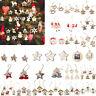 1-100pcs DIY Craft Christmas Wooden Pendants Hanging Xmas Tree Party Decoration