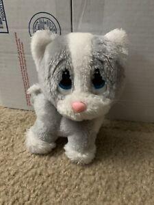 Vintage SAD SAM Cat Kitty plush Friend Grey Sad Eyes RARE