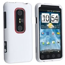 Hard Rubberized Case for HTC Evo 3D - White