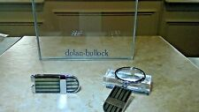 COLIBRI  Stainless & LAQUERED money clip, key ring matched set free ship lined
