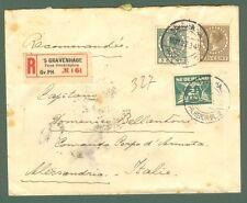 Storia postale estero. OLAND. HOLLAND. Regitered letter 1927 for Alessandria...