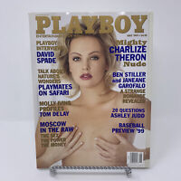 Playboy Magazine May 1999 Charlize Theron, David Spade Interview
