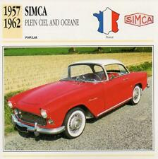1957-1962 SIMCA PLEIN CIEL & OCEANE Classic Car Photograph/Information Maxi Card