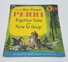 Walt Disney Perri 45 RPM Golden Record Set w/ Sleeve