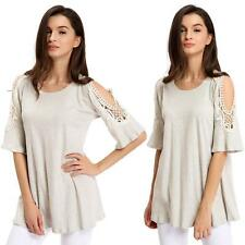 Blouse Cotton Short Sleeve Unbranded Tops & Shirts for Women