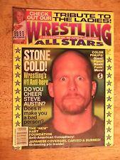 1997 WRESTLING ALL STARS MAGAZINE VINTAGE WCW WWF STONE COLD STEVE AUSTIN OLD