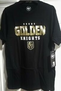 Vegas Golden Knights t-shirt '47 Brand NHL New nwt black gold 100% cotton