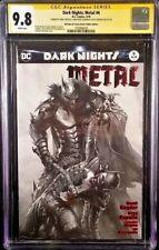 DC Comics DARK NIGHTS METAL #6 CGC SS 9.8 B&W 3X Signed JOKER BATMAN WHO LAUGHS